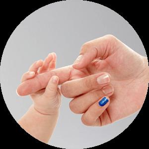 Blue Pinkie Finger