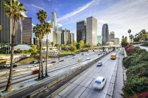 A photograph of Los Angeles