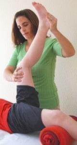 Duchenne Hamstring Supine Stretch