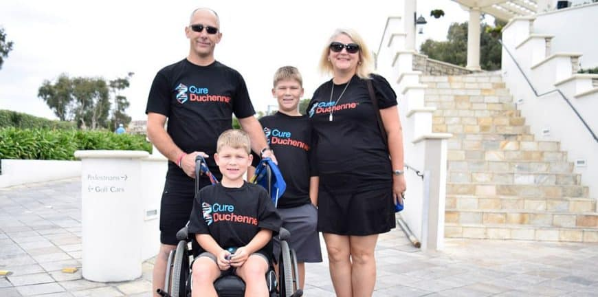"""We didn't know anything about Duchenne and felt isolated that there was no one we could turn to, other than the doctors or the internet for advice, inspiration, or HOPE…"""